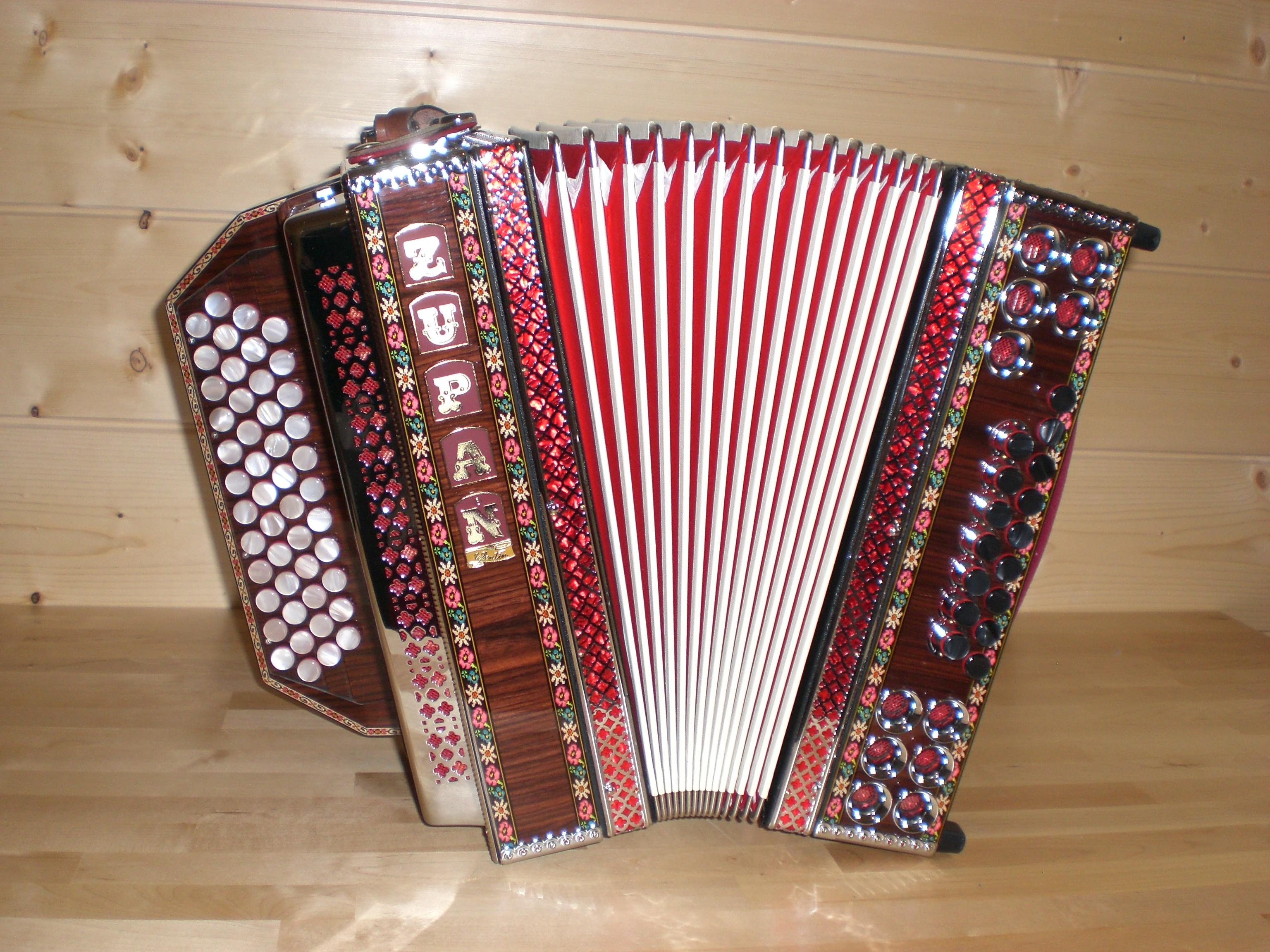 Steirische Harmonika Zupan Alpe Ivd Palisander Harmonikaland